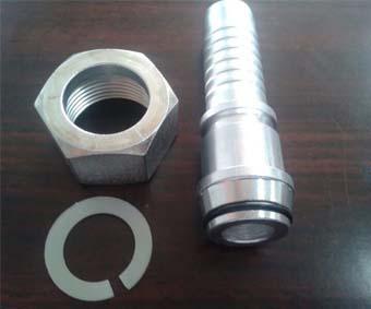 accesorios de manguera hidráulica de engarce de una pieza bsp jic métrico roscado1